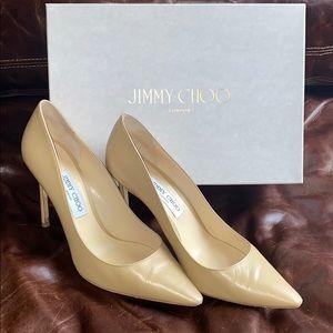 Jimmy Choo beige pumps